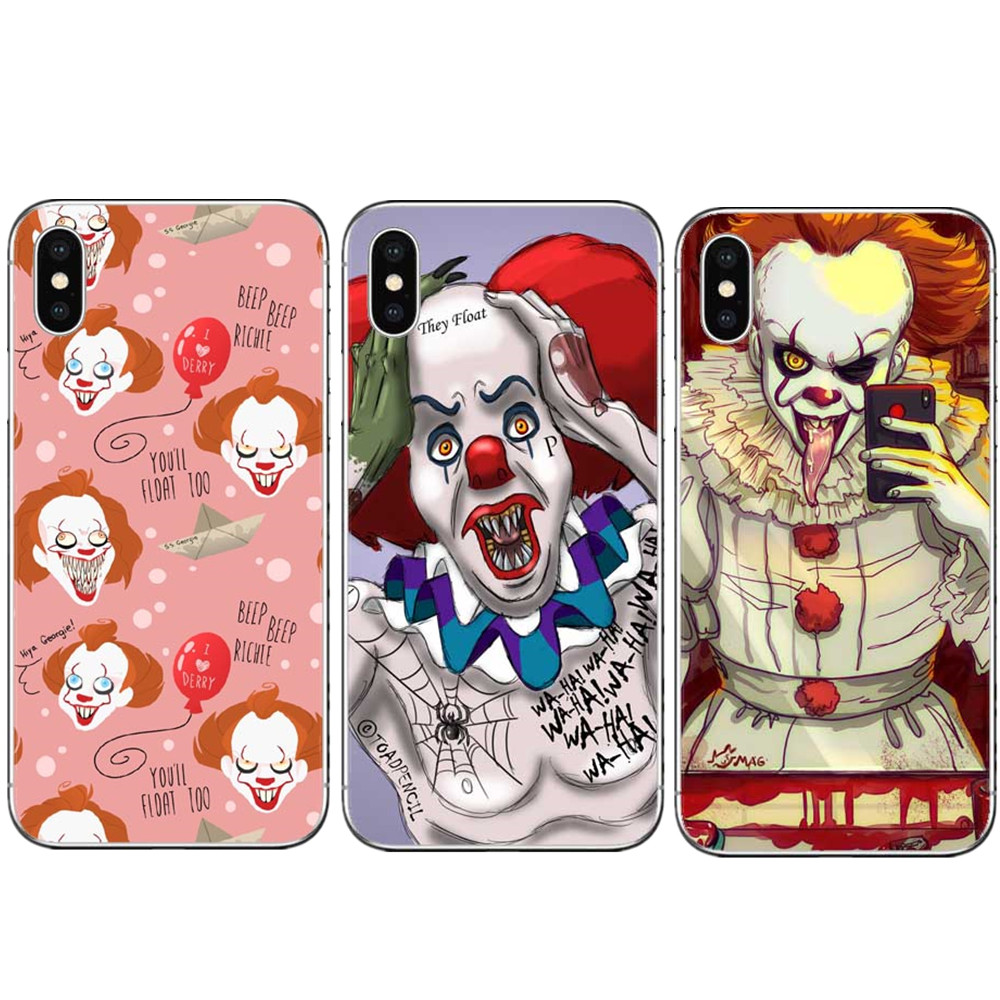 TV Pennywise the clown Horro Case For iPhone 6 6S Plus 7 7 Plus 8 Plus X 5 5S SE Black Hard PC Phone Cases Cover For iphone X 10