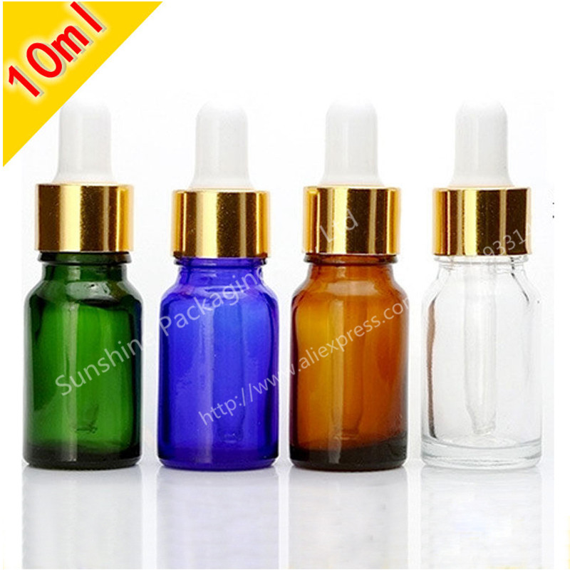 Hot Sale 500 X 10ml Cobalt Blue Bottle Bottle With Dropper, Small Shading Glass Bottle, 10cc Glass Essential Oil Container