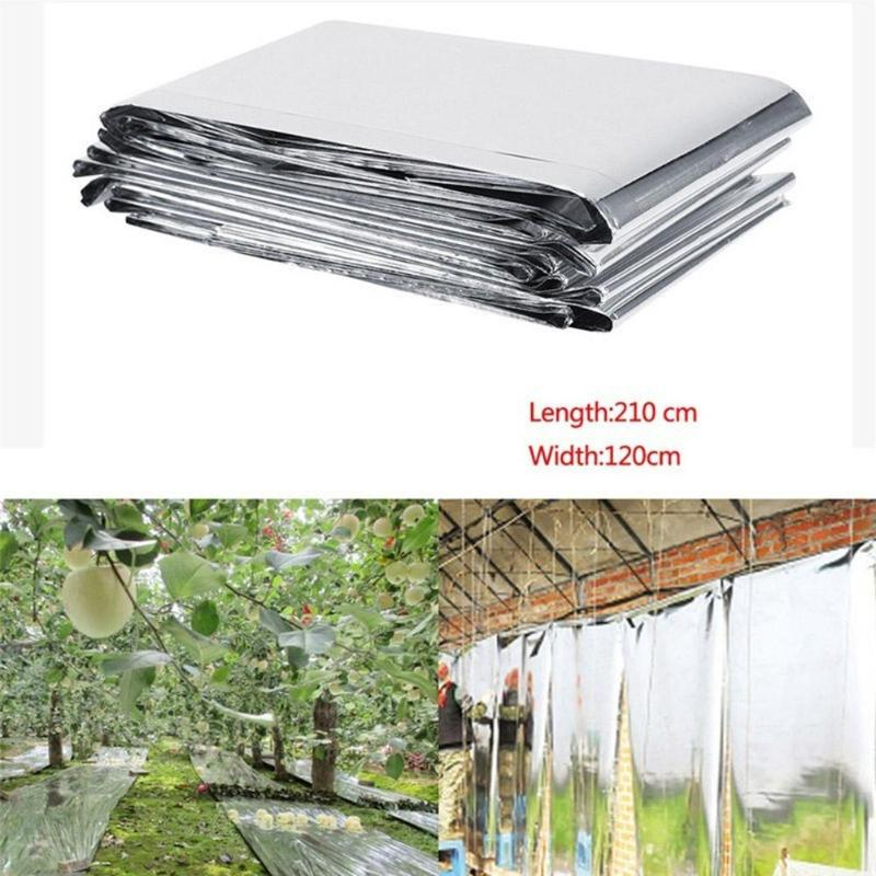 210x120cm Reflective Film Plants Garden Greenhouse Covering Foil Sheets Foldable Waterproof Heat Reflective Mylar Film Thermal