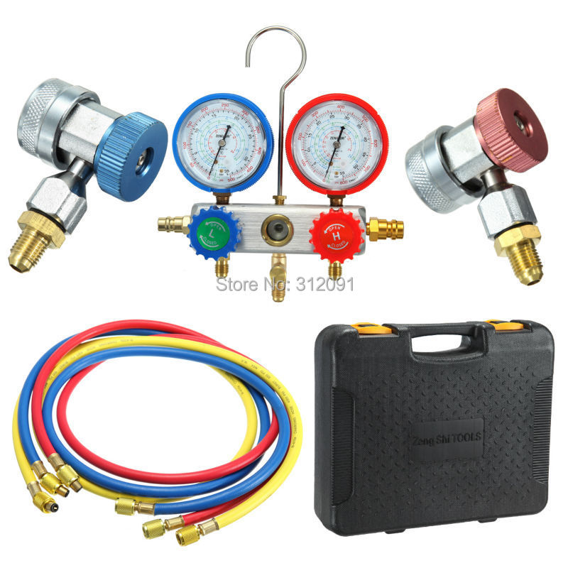 ФОТО R134A Car Refrigeration Air Conditioning Diagnostic Manifold Gauge Tool Set