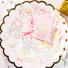 46pcs/box Sweet party Stickers Kawaii Stationery Stickers Adhesive Stickers Creative Gifts DIY Diary Album цена