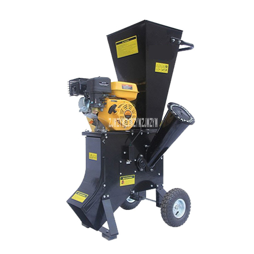 New CHA-702 High-powered Movable Tree Branch Crusher Grinder,4 (102mm) Garden Wood Shredders 13HP/3600rpm ,With Gasoline Engine ...