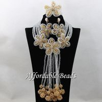 Nigerian Traditional Beads Best Selling Dubai Gold Jewelry Set Handmade Design ABS136