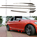 6x Stell Side Door Body Molding Protector Trim Cover For BMW 1 Series F20 13-16
