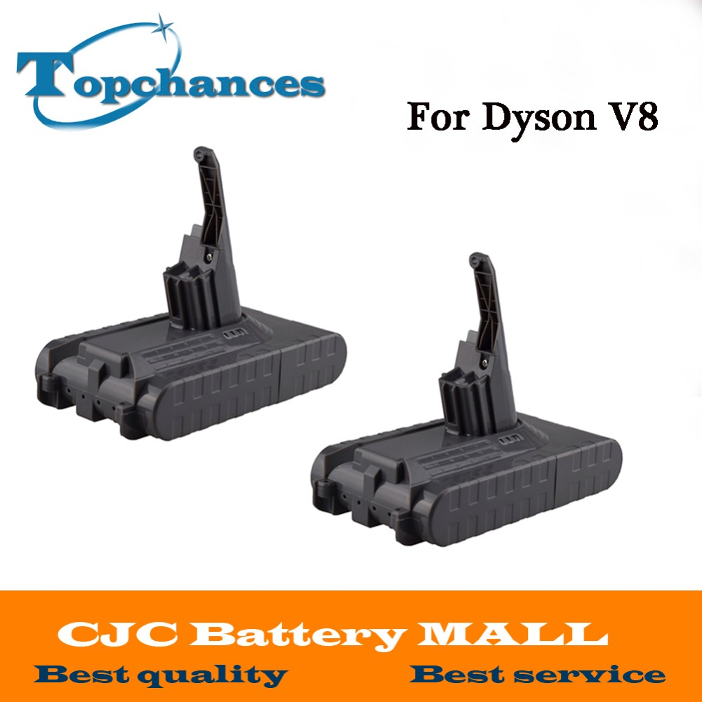 High Quality 2PCS New 21.6V 2800mAh Rechargable Li-ion Battery for Dyson V8 Vacuum Cleaner power tool replacement battery 21 6v 2800mah rechargable li ion battery for dyson v8 vacuum cleaner rechargeable battery
