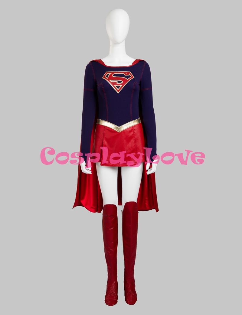 Supergirl Kara Zor El Cosplay Costume Superhero Cosplay Costumes for Halloween