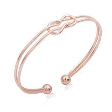 Twisted Geometric Bangle Bracelet