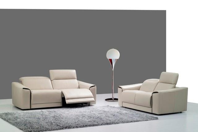 Cow Real Echtes Leder Sitzgruppe Wohnzimmer Sofa Schnitts Ecke Sofa