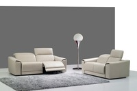 Koe real/lederen bankstel woonkamer sofa sectionele/hoekbank set meubelen couch/2 + 3 zits fauteuils moderne