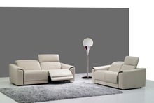 cow real/genuine leather sofa set living room sofa sectional/corner sofa set home furniture couch/ 2+3 seater recliners modern(China)