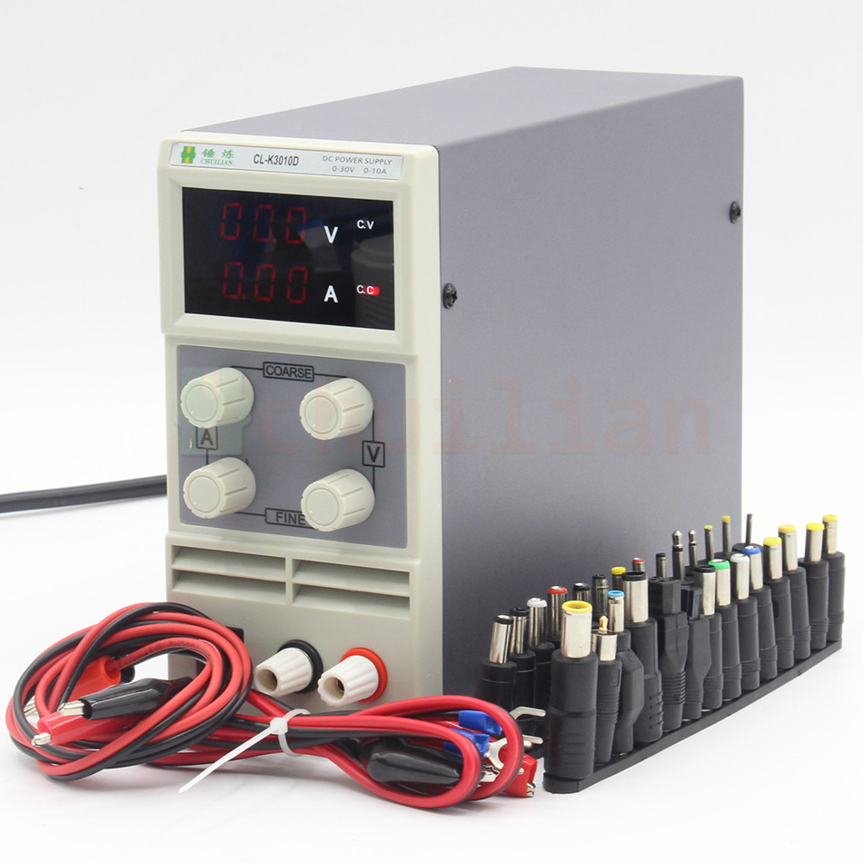 chuilian CL3010D 30V 10A Single Channel adjustable Digital 0.1V 0.01A DC Laboratory power supply DC adapter cps 6011 60v 11a digital adjustable dc power supply laboratory power supply cps6011