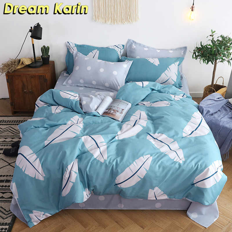 Modern Brief 2/3 Bedding Set Duvet Cover Sets Bedclothes Bed Linens Quilt Covers with Pillowcases Single Double Queen King Size