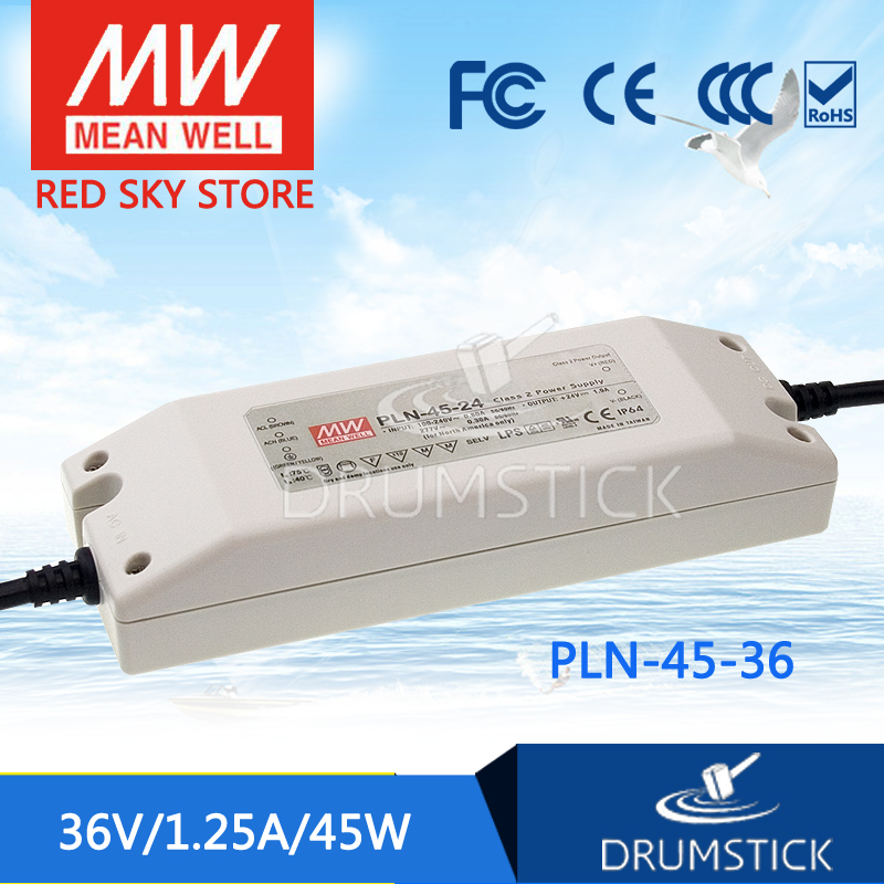 Hot sale MEAN WELL PLN-45-36 36V 1.25A meanwell PLN-45 36V 45W Single Output LED Power SupplyHot sale MEAN WELL PLN-45-36 36V 1.25A meanwell PLN-45 36V 45W Single Output LED Power Supply