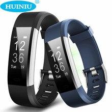 Huiniu ID115HR плюс сердечного ритма Смарт-браслет GPS спортивные SmartBand Шагомер фитнес-трекер группы часы браслет для IOS Android