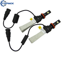 2Pcs Lot Super Bright 6400lm H8 H9 H11 Auto LED Headlight 6500K 60W Xenon HID Replacement