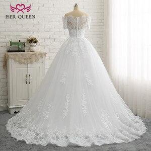 Image 3 - Бальное платье с коротким рукавом, винтажное кружевное платье большого размера с аппликацией W0334
