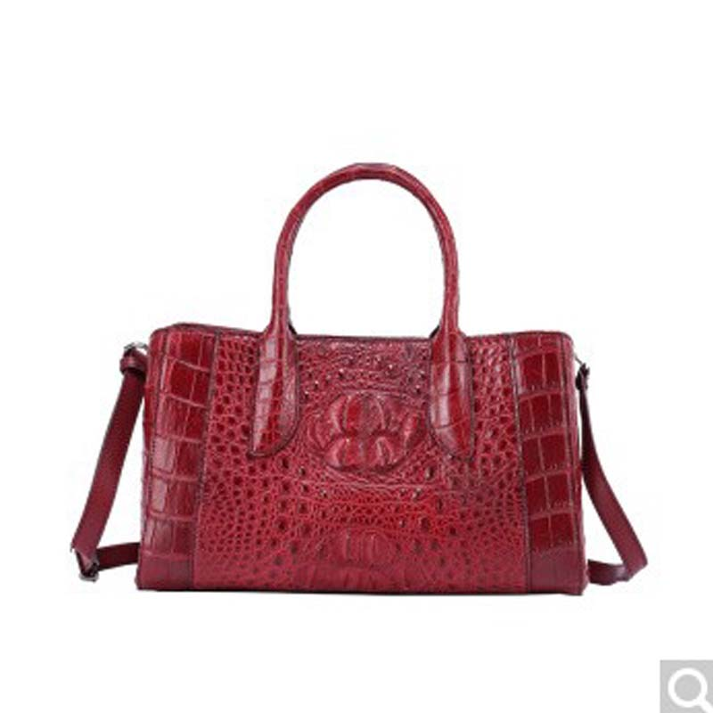 где купить Gusheng new crocodile Skin handbag bag european fashion leather crocodile pattern large capacity single shoulder oblique cross по лучшей цене