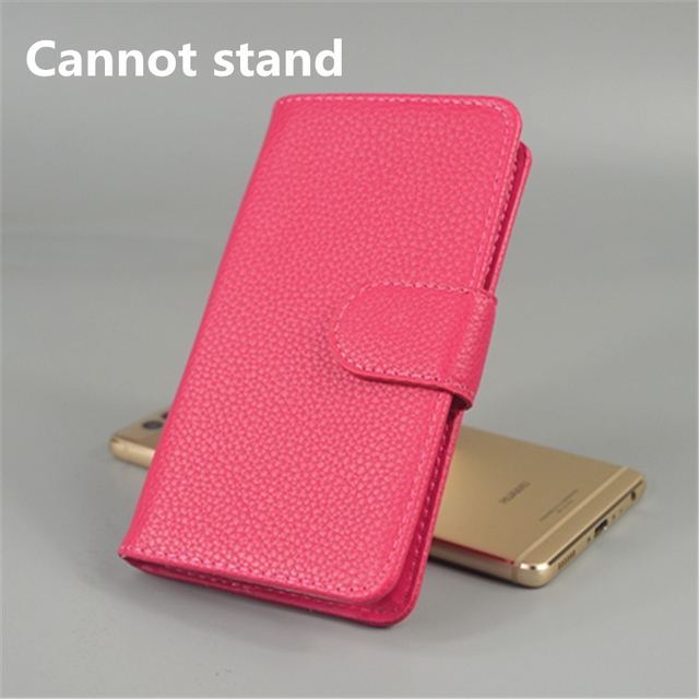 For Samsung Galaxy Ace La fleure Luxury Litchi leather case cover stand function for with 2 Card Holder and pouch slot
