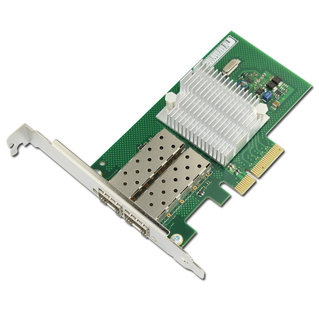 US $163 0 |PCIe X4 Dual Port 1000Mbps Gigabit Ethernet Lan Fiber Server  network card For intel I350 F2 Nic-in Add On Cards from Computer & Office  on