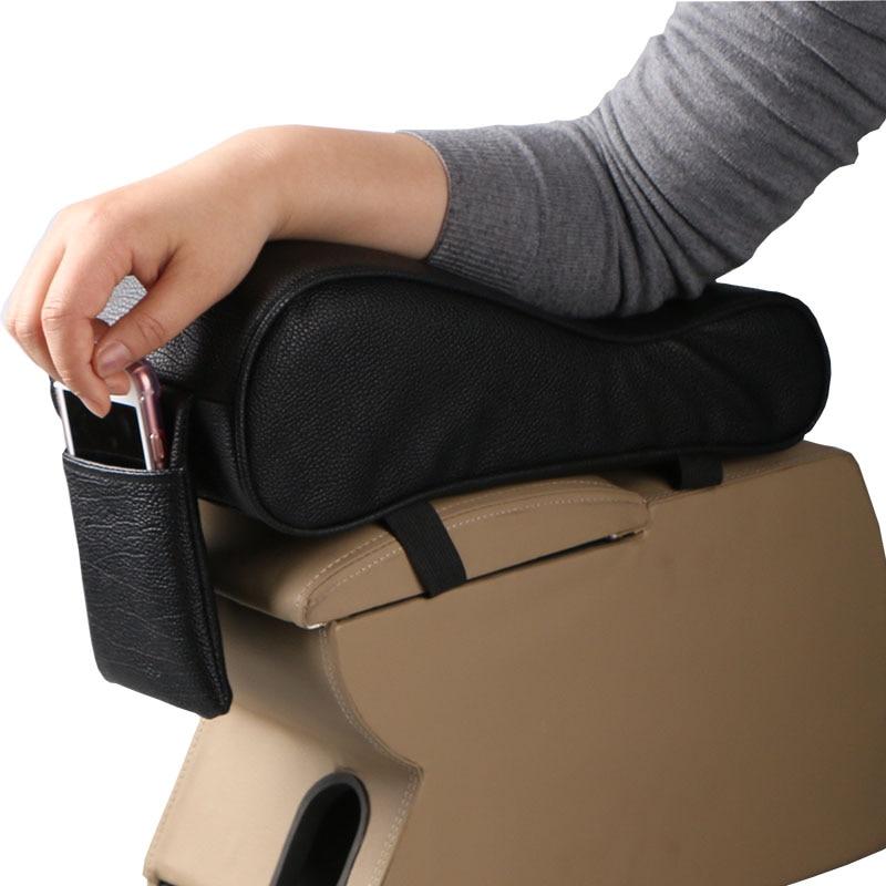 Car Universal Armrest Box Mats Car Interior Armrest Pad Set PU Leather Styling Armrest Box Pad Armrest Top Mat Liner