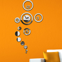 DIY Electronic Wall Clock For Children 3D Living Room Mirror Clocks Modern Design Home Decor