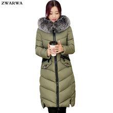 2017 Hot Venda Ucrânia Casacos De Pele Gola Jaqueta de Inverno Mais tamanho Mulheres Amassado Neve Jaqueta de Algodão Quente do Sexo Feminino Com Capuz Longo Outwear