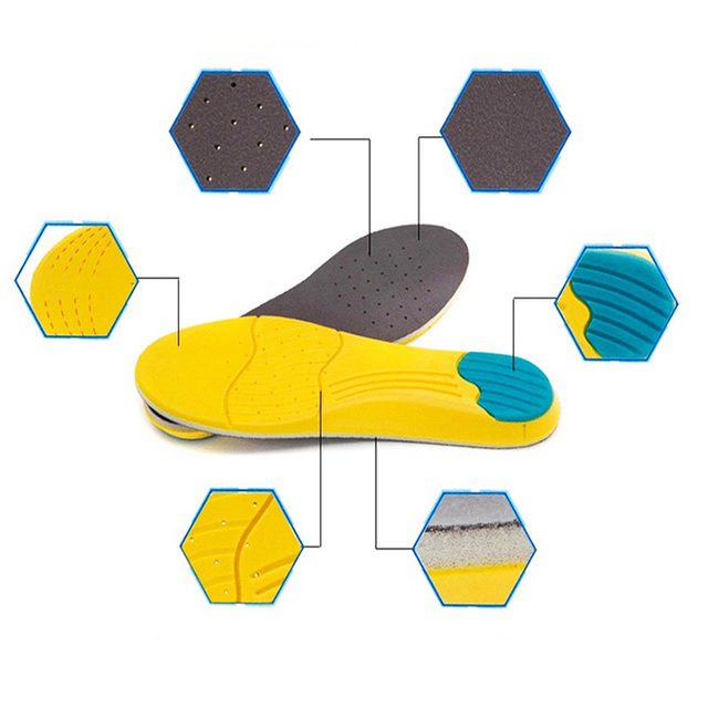 High Quality PU Sport Insoles Sweat Absorption Pads Running Sport Shoe Inserts Breathable Insoles Foot Care Expert Men And Women
