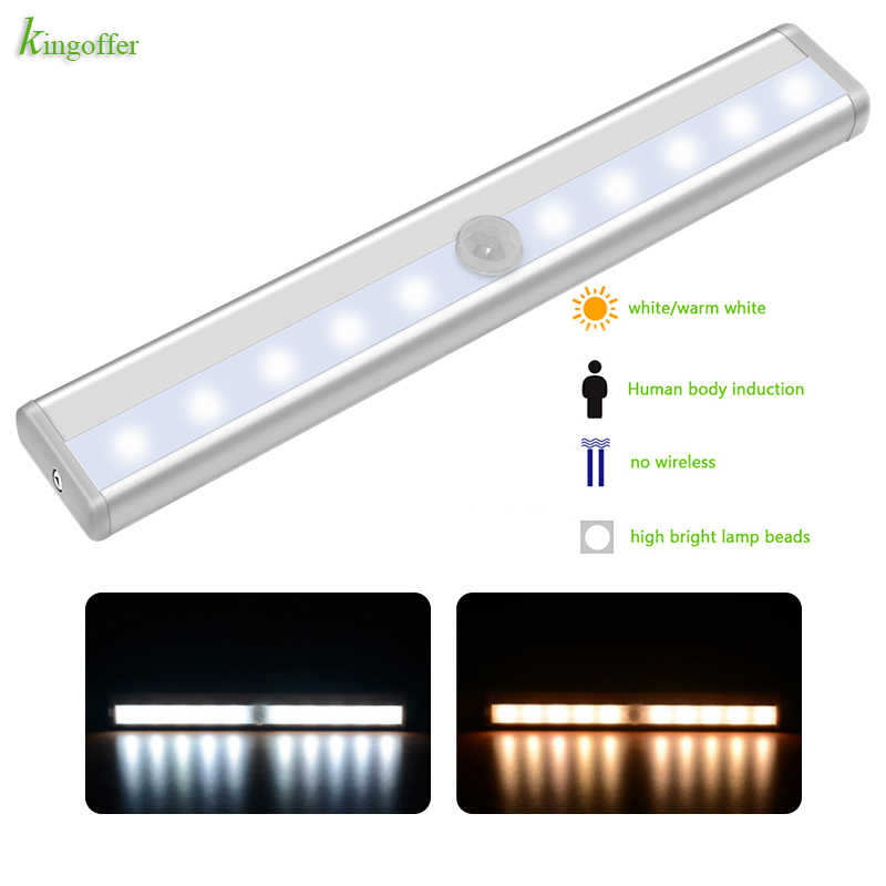 Sensor led light Wireless Intelligent Infrared Induction battery Night Lights for Under Cabinet Closet PIR Motion Sensor Lights