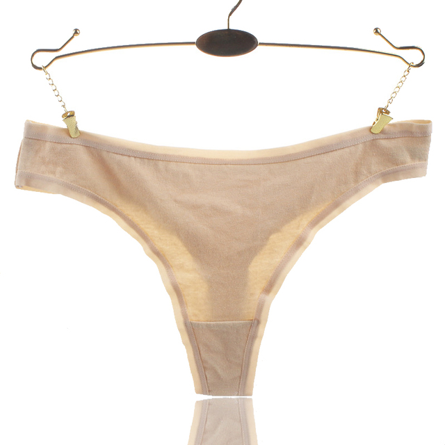ea7def2a7b7b Plus Size XL XXL XXXL Women Cotton Sexy G String Fashion Solid Panties  Women's Thongs Briefs Low Waist Underwear