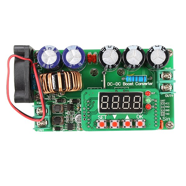 Image 3 - Hot Sale 1PC 600W Digital Control DC DC Adjustable Step Up Module Constant Voltage Current Solar Charging Module Board-in Integrated Circuits from Electronic Components & Supplies