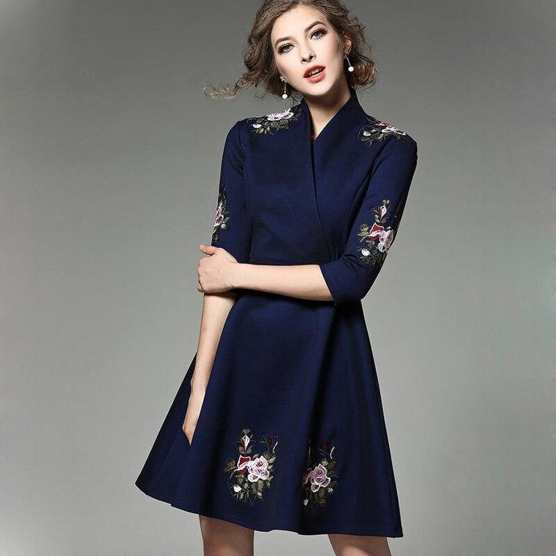 abbastanza 2017 della Molla nuove donne abiti casual elegante dell'annata del  EW61