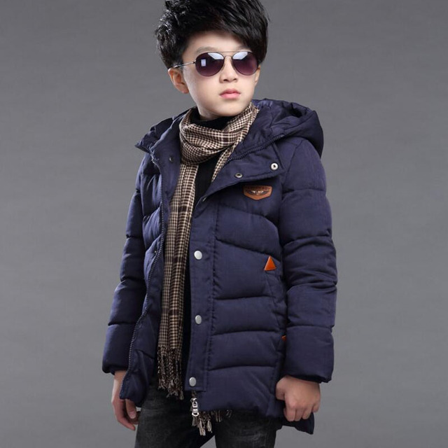 Children's Clothing Winter Cotton-padded Jacket 2016 New Patchwork Cotton Wadded Jacket Thickening Boys Thicken Hooded Coat