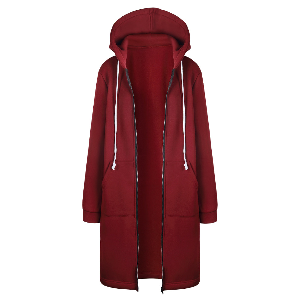 HTB1ilGYX9fD8KJjSszhq6zIJFXad Women Warm Winter Fleece Hooded Parka Coat Overcoat Long Jacket Women Outwear Zipper Female Hoodies S-5XL plus size sweatshirt