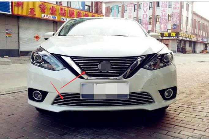 Billet Grille Grill Insert For 2016 2017 Nissan Sylphy Sentra 2pc