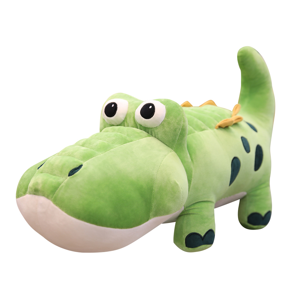 <font><b>85cm</b></font> Creative Cute Crocodile Lying Section Plush Pillow Mat Plush <font><b>Doll</b></font> Stuffed Toy Cartoon Plush Toys Kids YESFEIER image