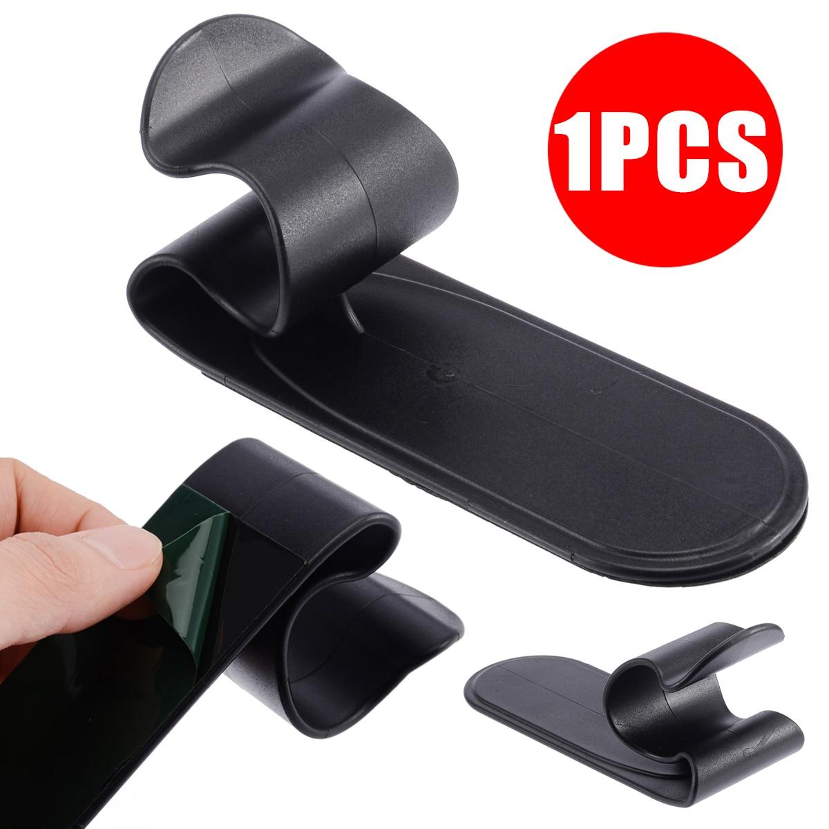 Treyues 1x universal carro/casa guarda-chuva gancho titular gancho clipe prendedor preto acessórios interiores do carro