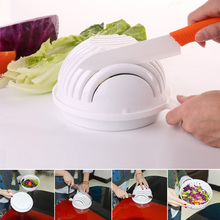 New 60 Second Salad Cutter Bowl Easy Salad Fruit Vegetable Chopper Washer And Cutter Quick Salad Maker Chopper