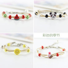 Cute bracelet female Simple girl lovers bracelets student simple sweet sister Handmade beads rope bracelet gift(China)