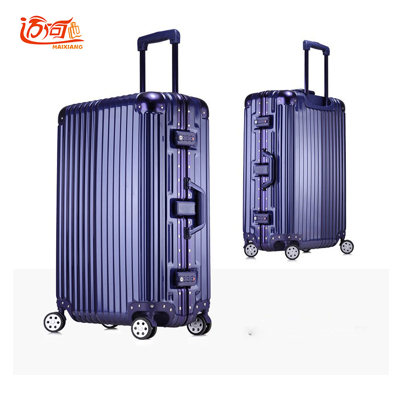 Aluminum frame+PC+ABS children's suitcases trolley luggage, 20