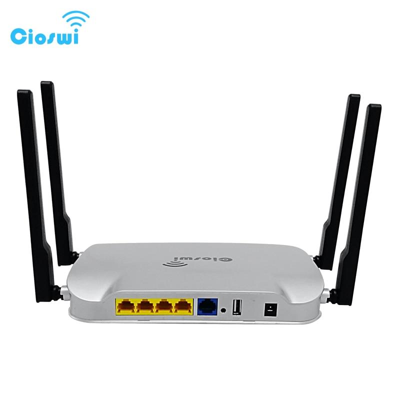 Cioswi Wifi Routeur Haute Puissance 1200 Mbps Gigabit Wifi Extender 5 GHz 802.11ac Point D'accès Mobile Wifi Routeur Openwrt Système