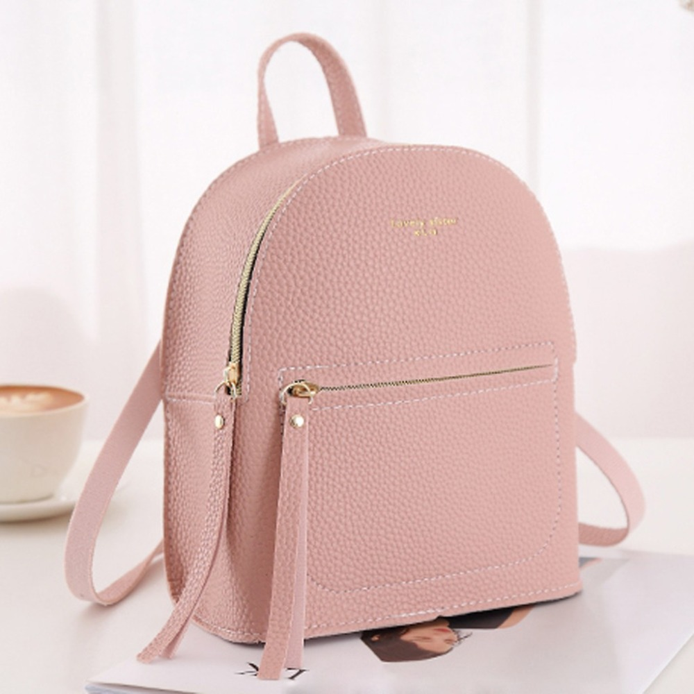 Small Backpack Purse Shoulder-Bag Multi-Function Female Designer Mini Fashion Ladies