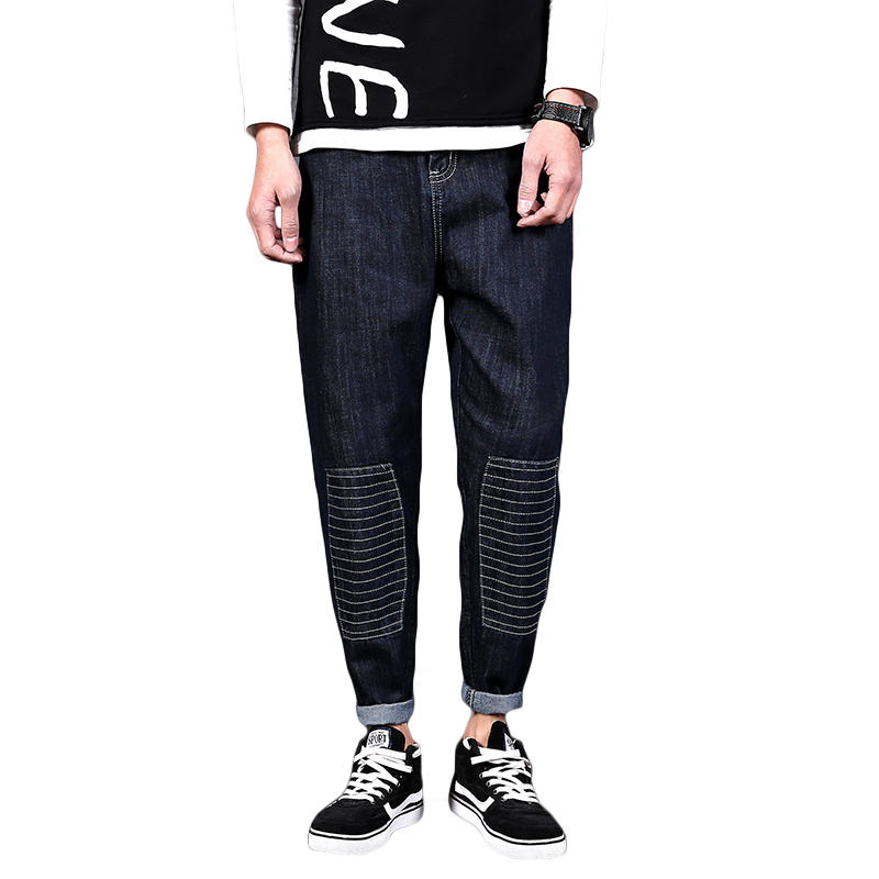 New Arrival Men Jeans Pants Fashion Black Denim Pant Male Loose Harem Style Boys Hip Hop Streetwear Casual Mens Biker Jeans large size 29 42 young men jeans hole patchwork denim harem pant male fashion casual denim pant trousers