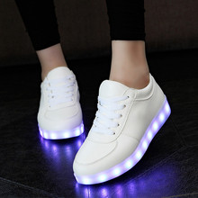 Luminous Sneakers Tenis Led Feminino Basket Led Enfant Light Up Trainers Kid Casual Boy Girl Led