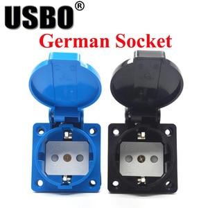 Image 3 - Supply Black Blue AU US UK EU German Frence Brazil Swiss universal industry AC power socket outdoor dustproof waterproof socket