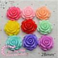 30PCS/Lot 6 colors 30mm resin rose Cameos,DIY Flower Cabochons.Free Shipping