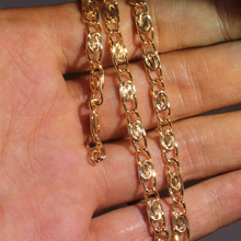 Karopel Vintage Men Chain Choker Necklace Unisex Golden Link Chain Necklaces Charms Body Jewelry Bijoux Female For Women