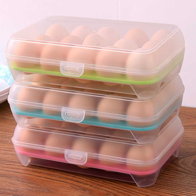 Hoomall Portable Plastic  Container Case Picnic Multifunction Eggs Crisper Box Kitchen Tools Refrigerator Fresh Storage Box
