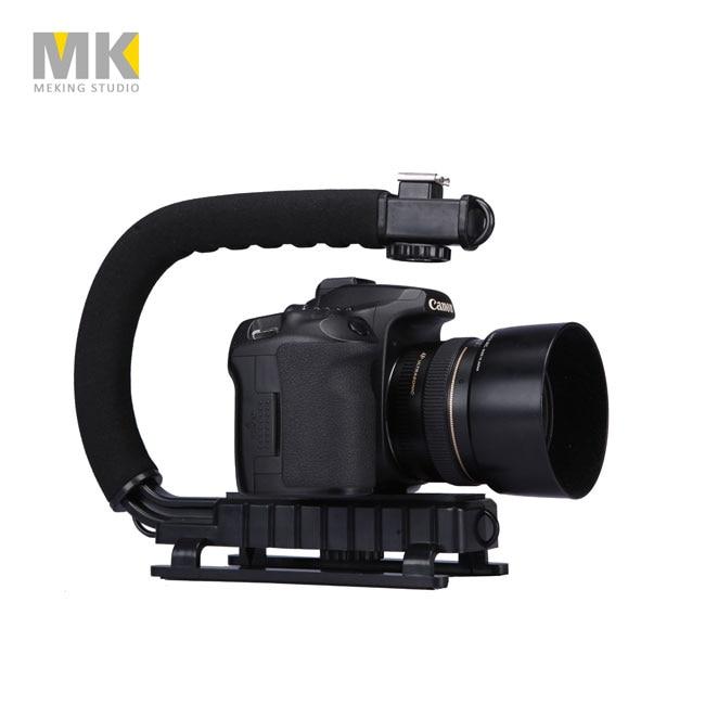 U-Grip Triple Shoe Mount Video Akce Stabilizační rukojeť Grip Rig pro iPhone 8 X Gopro Smartphone Canon Sony DSLR Camera