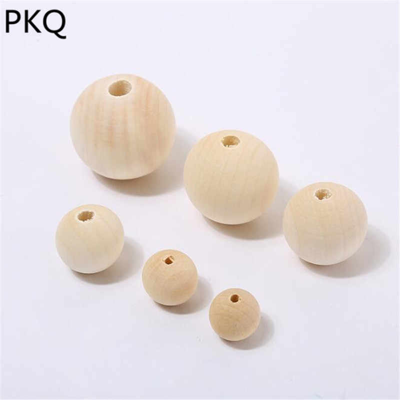 Natural Ball Round Spacer Wooden Beads Small Wood Beads Lead-Free Wooden Balls Wood DIY Crafts