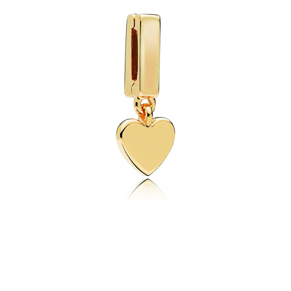 Floating Heart Dangles for DIY Reflexions Bracelets Women Fashion Golden Plated Reflexions Charms for Silver 925 Jewelry Making